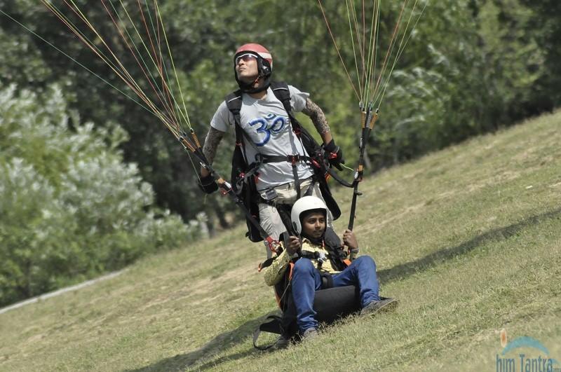 Paragliding landing site